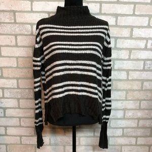 MTLA Turtleneck Stripe Sweater